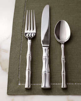 Cambridge Silversmiths 45-Piece Bamboo-Design Flatware Service