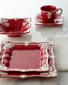 12-Piece Red Square Baroque Dinnerware Service