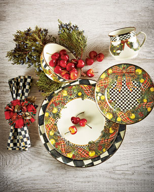 MacKenzie-Childs Evergreen Christmas Dinnerware