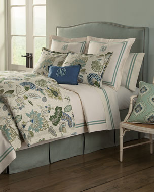Legacy Home Gemma Aqua Bedding & Somerset 200TC Sheet Set