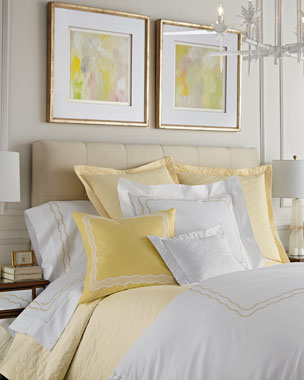 SFERRA Embroidered Percale Bedding & 406TC Sheets