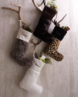 Faux-Fur Christmas Stockings