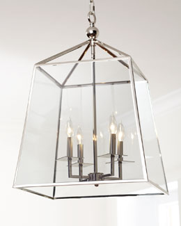 Regina-Andrew Design Square Four-Light Glass Lantern