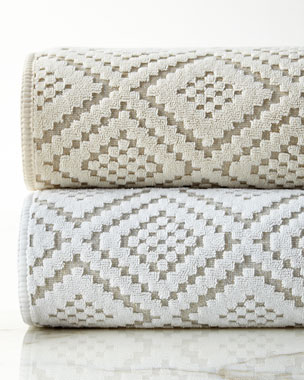 Kassatex Etoile Diamond-Sculpted Towels