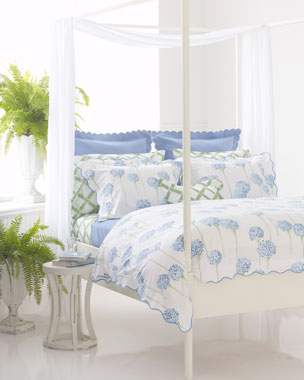Matouk Charlotte Bedding & Madison Bamboo-Lattice 300TC Sheets