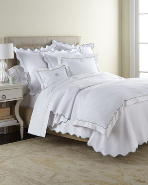 Matouk Scallops Bedding & 350TC Sheets
