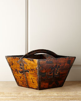 Antique Wooden Basket