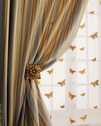 Milano Striped Curtains & Butterfly Sheers