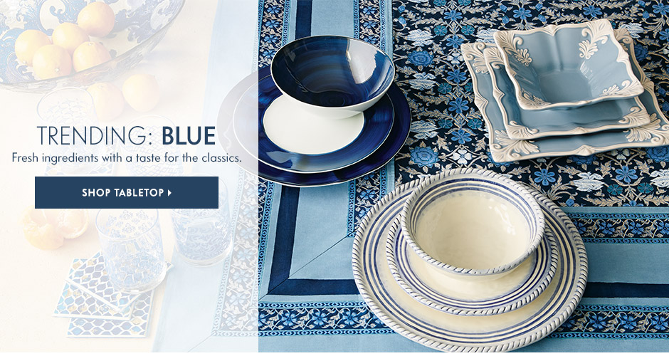 Lovely blue trends for the tabletop