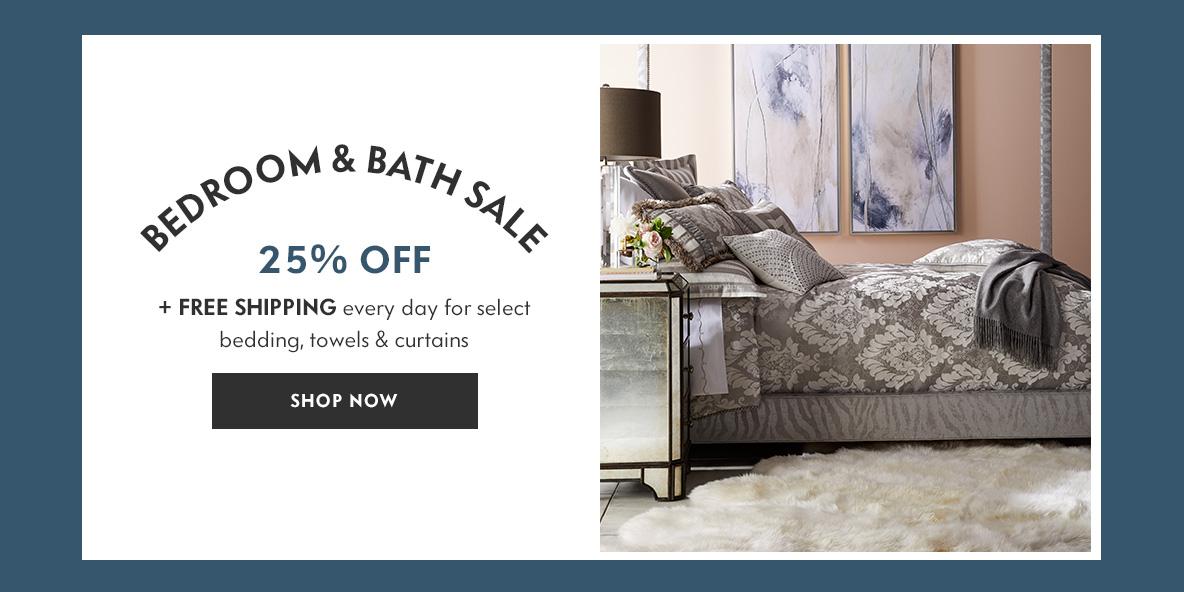 Savings Bedroom Furniture Decor Tabletop Bedding Bath Holiday