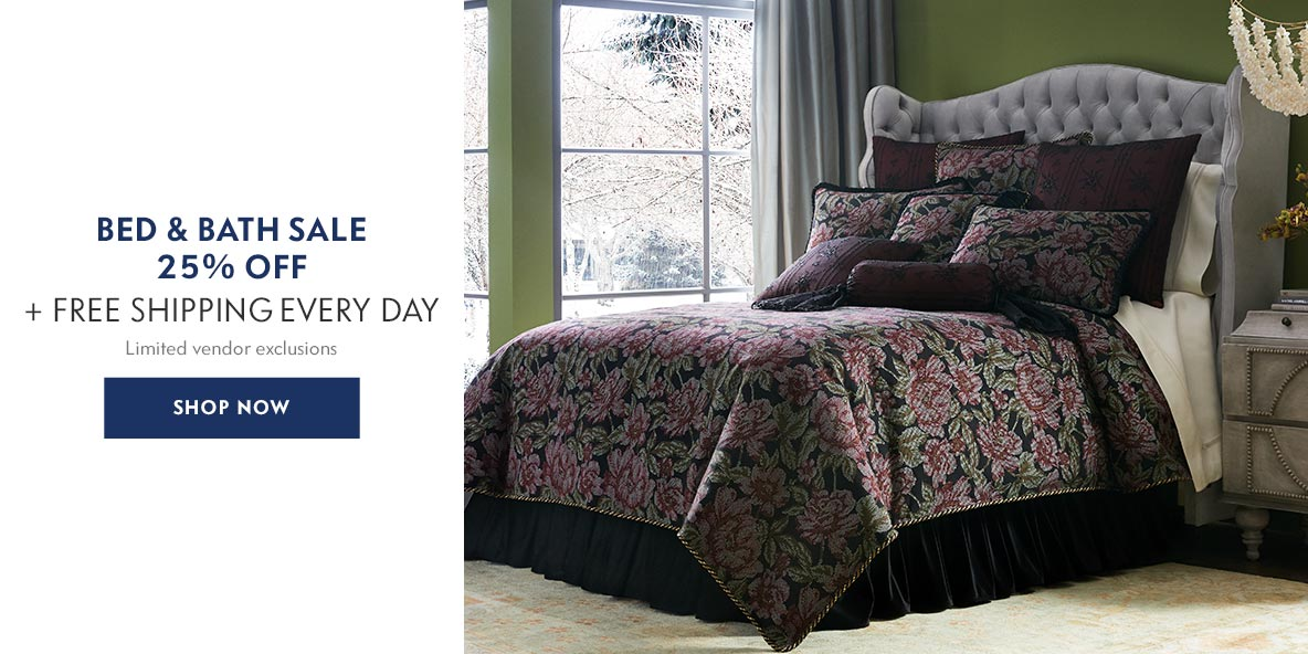 Bed & Bath Sale 25% off