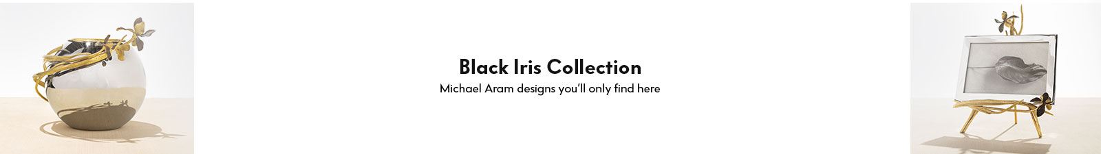 Michael Aram Black Iris Collection
