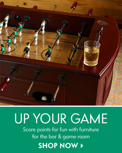 Up Your Game Score points for fun with furniture for the bar & game room: Shop now