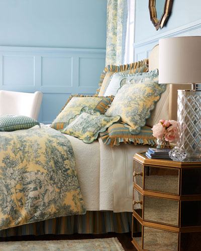 Legacy Yellow Toile Bedding Horchow Com