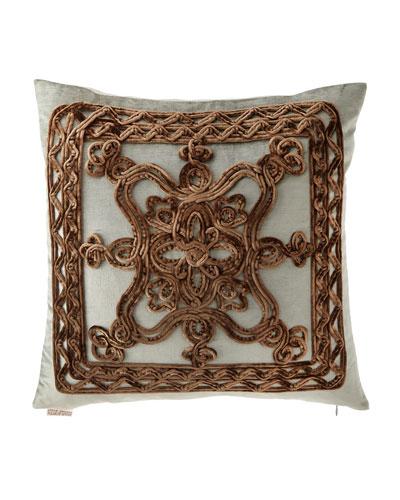 Brompton Court Passementerie Velvet Pillow, 19