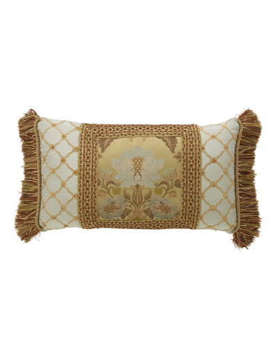 Petit Trianon Pieced Pillow with Side Fringe, 15