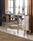 Gold Mirrored Console -  Horchow