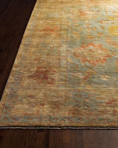 Victorian Oushak Rug, 4' x 6'