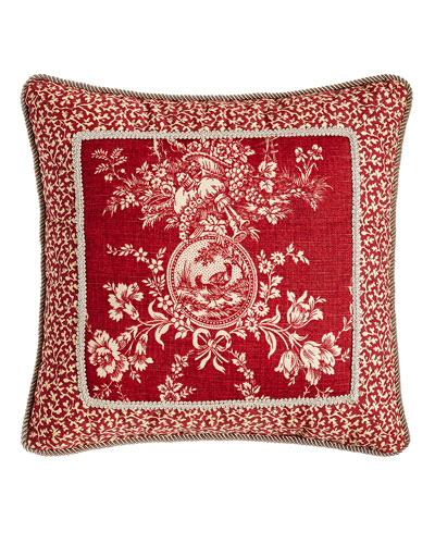 quilted toile bedding