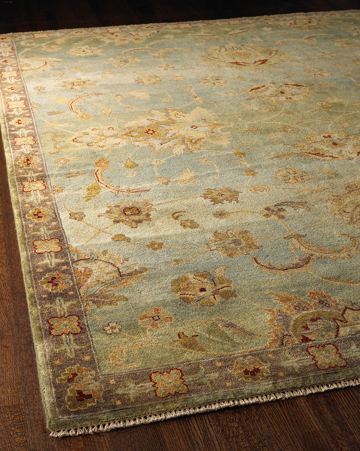 Blue Small Border Rug, 6' x 9' Product Image