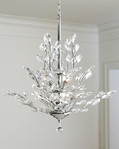 Silver Leaf Light Fixture