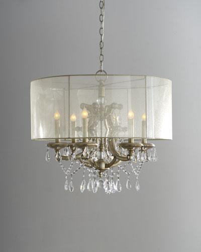 6-Light Veiled Shade Chandelier