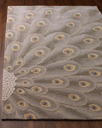 Peacock Bursts Rug, 8' x 11'