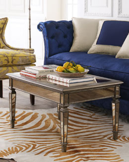 """Hailey"" Mirrored Coffee Table"