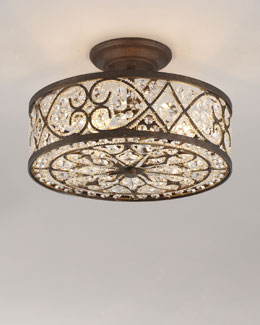 Woven Crystal Ceiling Fixture