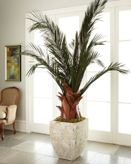 John-Richard Collection Oversized Palm in Planter