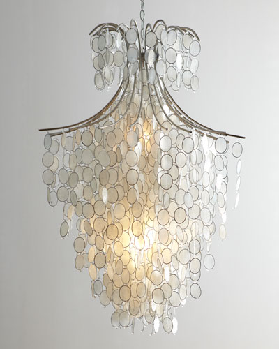 Dripping Capiz 2-Light Chandelier