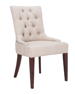 """Amanda"" Linen Dining Chair"