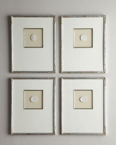 Four Medium Framed Intaglios