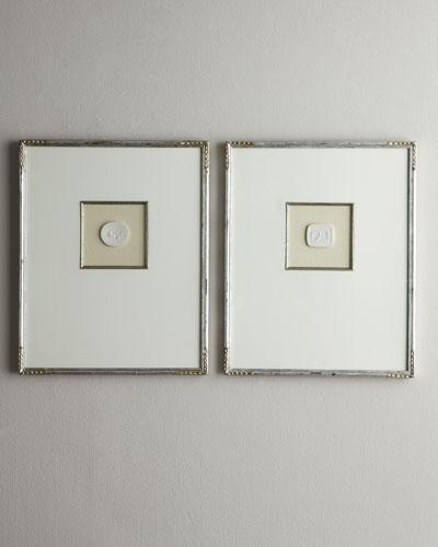 Two Large Framed Intaglios