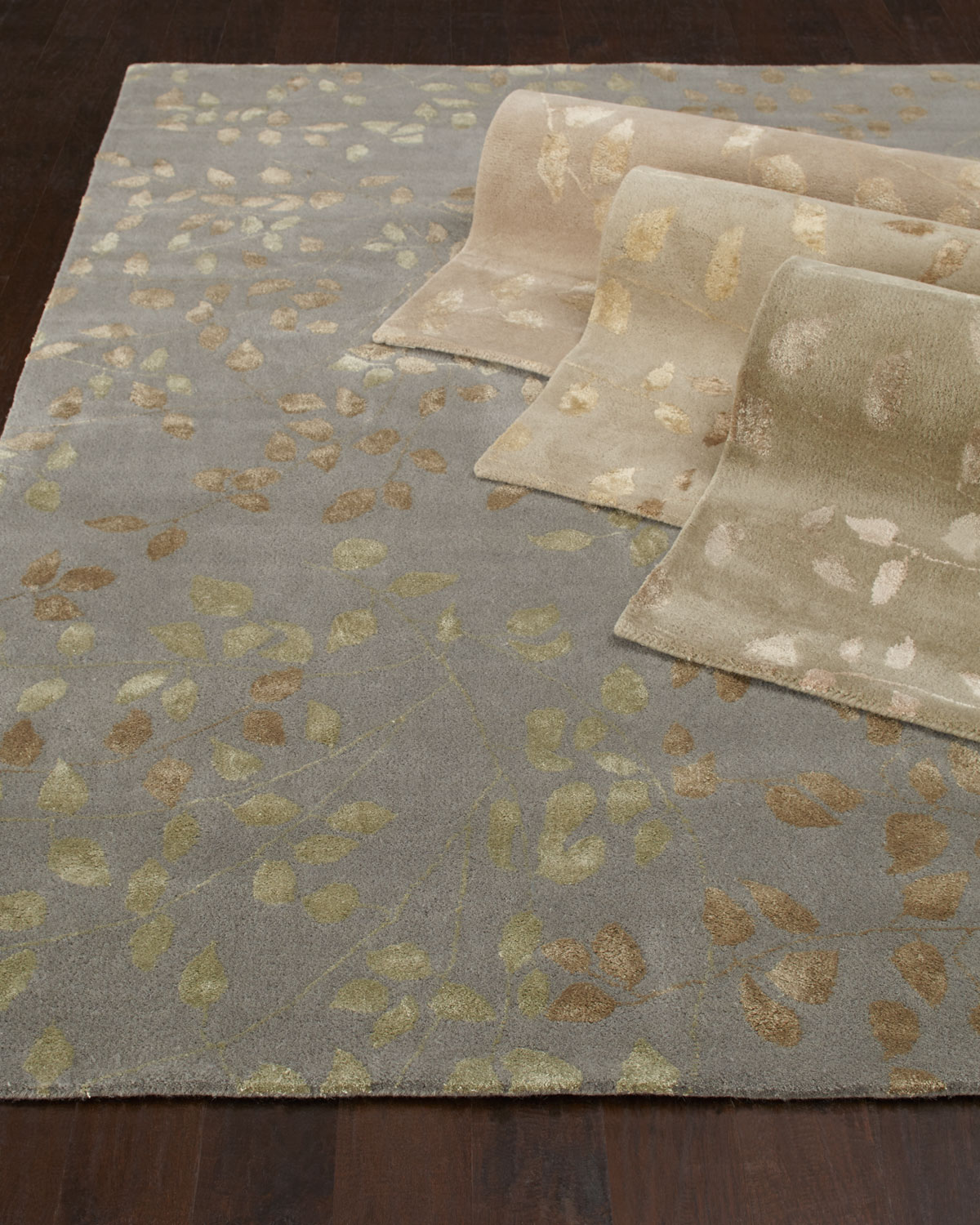 Tufted Leaves Rug, 8' x 10' Product Image