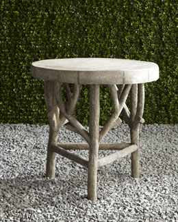 Artemis Faux-Bois Side Table
