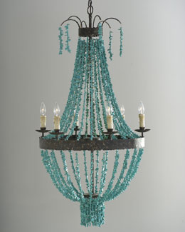 Regina-Andrew Design Turquoise Beads Six-Light Chandelier