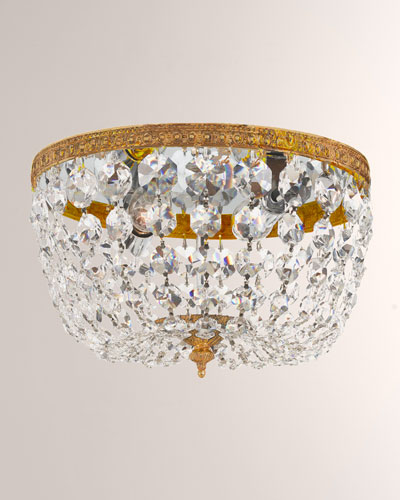 Small Prism Brass Flush-Mount Ceiling Fixture