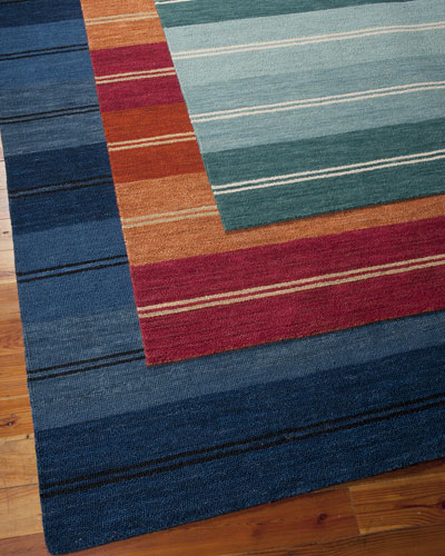 Villa Stripes Flatweave Rug, 5'3
