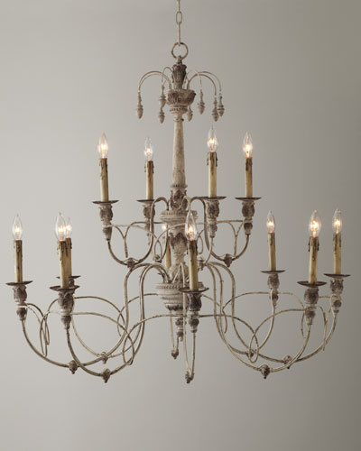 White finish chandelier horchow quick look mozeypictures Choice Image