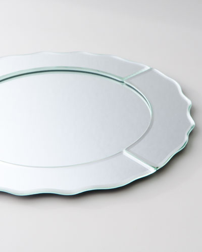 Mirrored Charger Plate