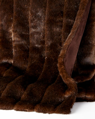 Imported Faux Fur Throw