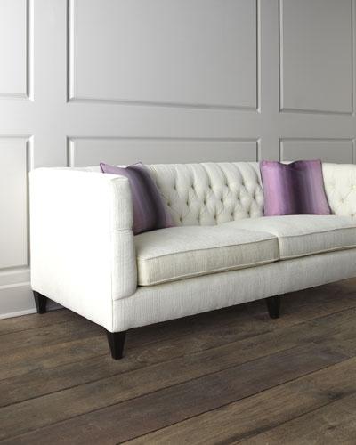 Dusk Button Tufted Sofa 92: Feather Down Sofa