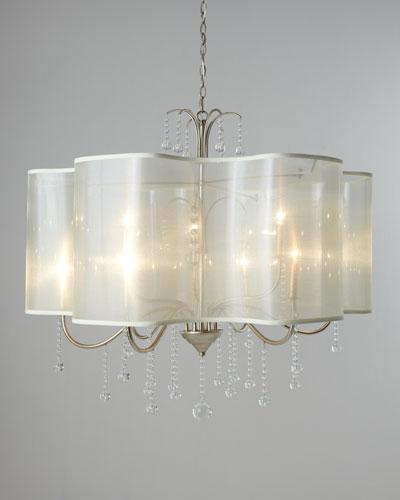 Quatrefoil 9-Light Shaded Chandelier