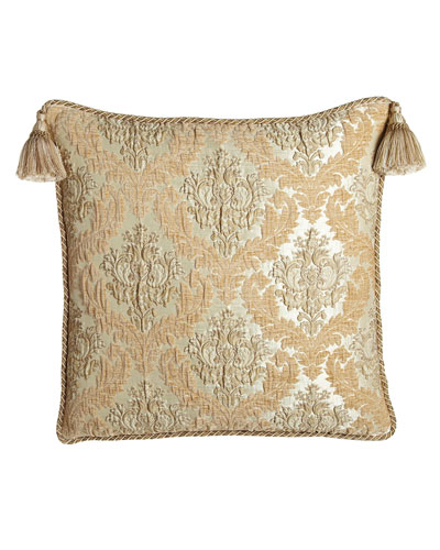 Florentine Brocade European Sham with Braided Cord & Tassels