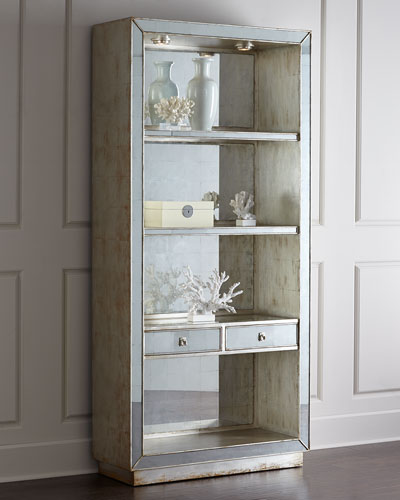 Regent Mirrored Bookcase