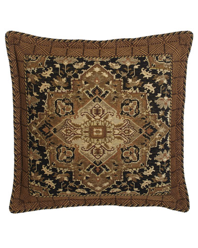 Casablanca Chenille European Sham with Geometric Border