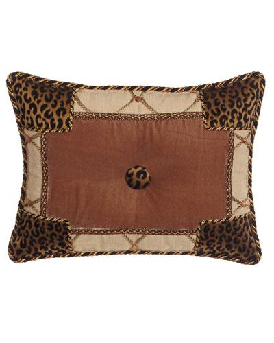 Casablanca Animal-Print Pieced Pillow, 13
