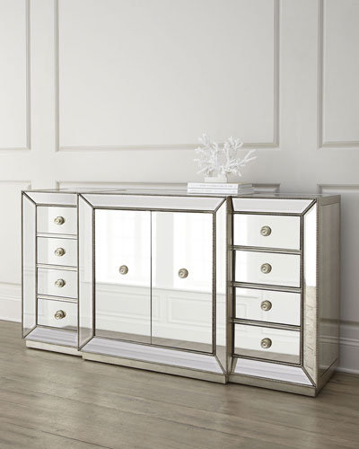 Shilo Two-Door Mirrored Sideboard