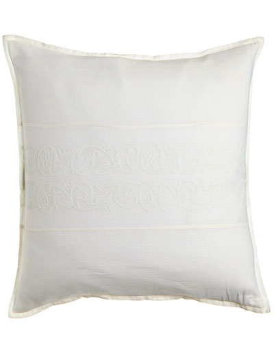 Allegra Pillow with Embroidered Inset, 18
